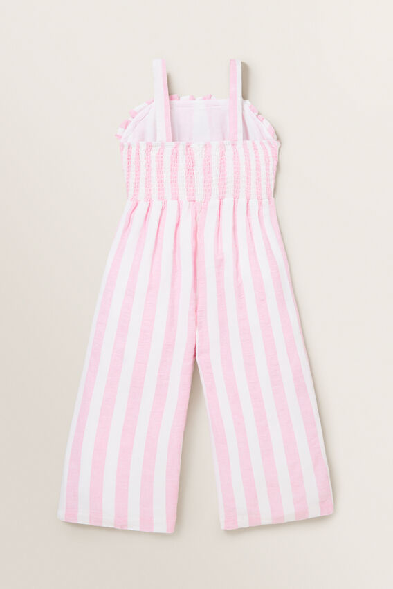 Stripe Linen Jumpsuit  PINK BLUSH/WHITE  hi-res