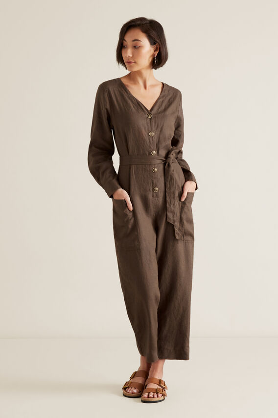 Relaxed Jumpsuit  LIGHT CHOCOLATE  hi-res