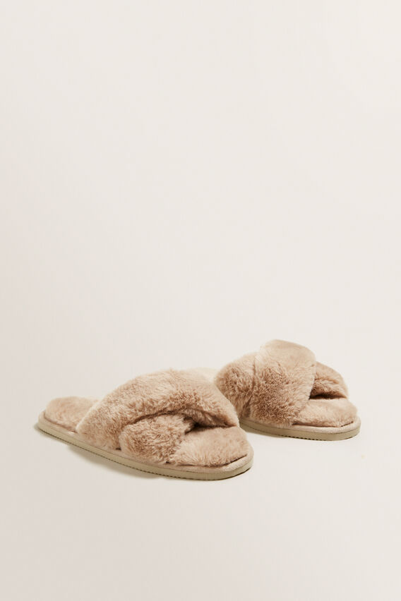 Cross Over Slipper  WARM TAUPE  hi-res