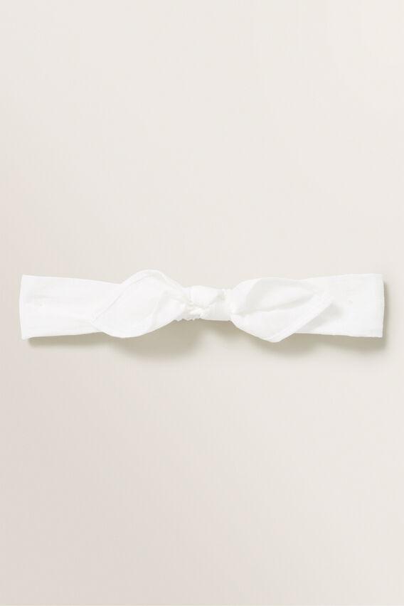 Skinny Bow Headband  WHITE  hi-res
