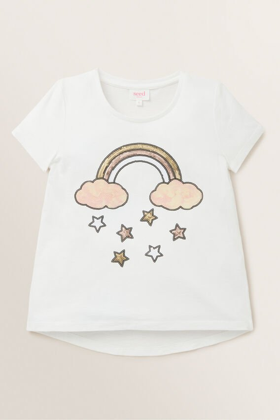 Rainbow Sequin Tee  CANVAS  hi-res