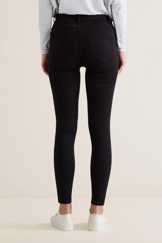 High Waist Skinny Jean  BLACK  hi-res