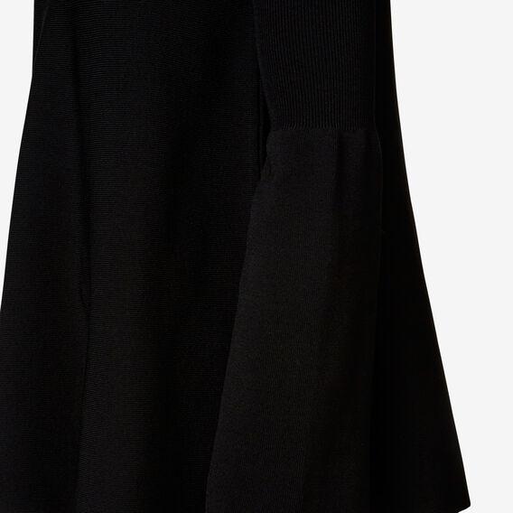 Rib Detail Knit  BLACK  hi-res