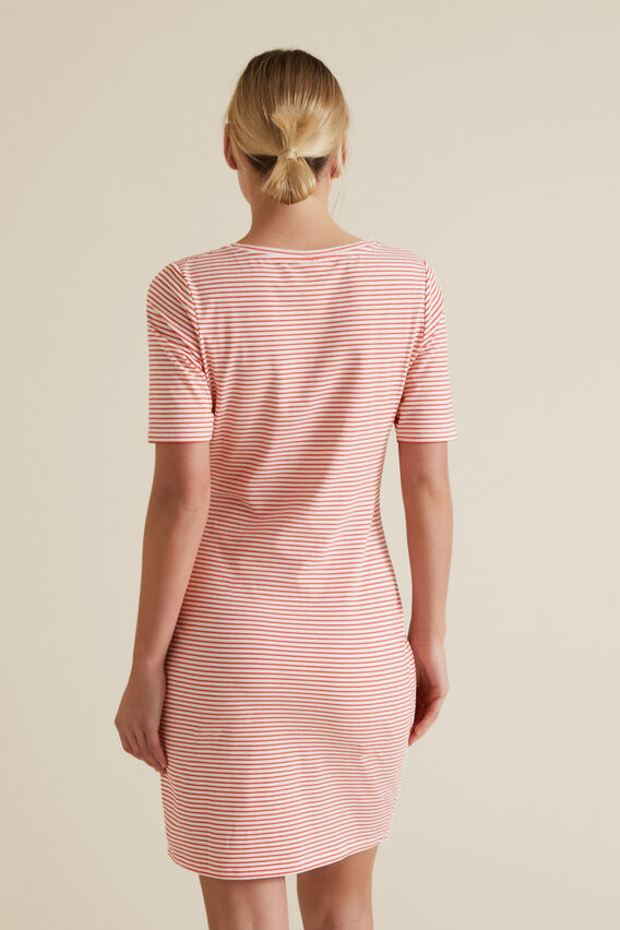 Knot Front Dress  POPPY STRIPE  hi-res