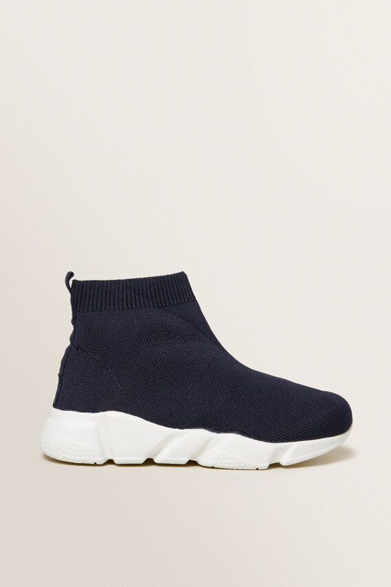 Knitted Sock Trainer  NAVY  hi-res