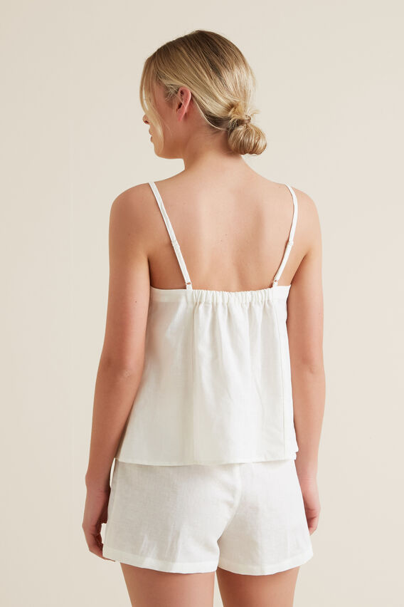 Sleep Frill Cami Set  CLOUD CREAM  hi-res