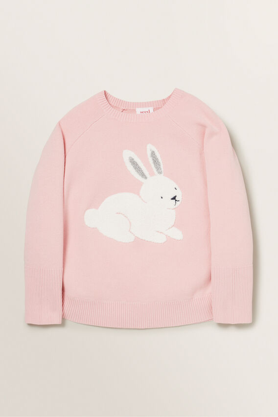 Bunny Poncho  DUSTY ROSE  hi-res