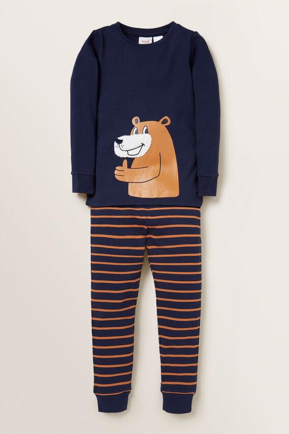 Chenille Bear Pyjama  MIDNIGHT BLUE  hi-res