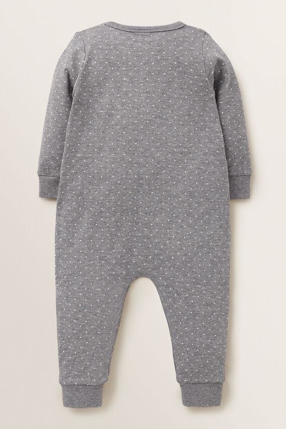 Double Knit Bunny Jumpsuit  SLATE MARLE  hi-res