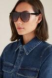 Lola Flat Top Sunglasses  BLACK/TORT  hi-res