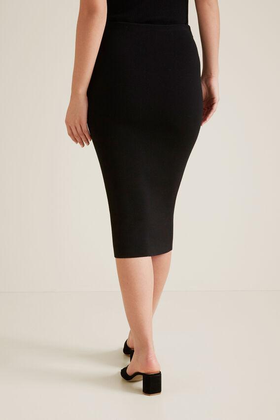 Crepe Pencil Skirt  BLACK  hi-res