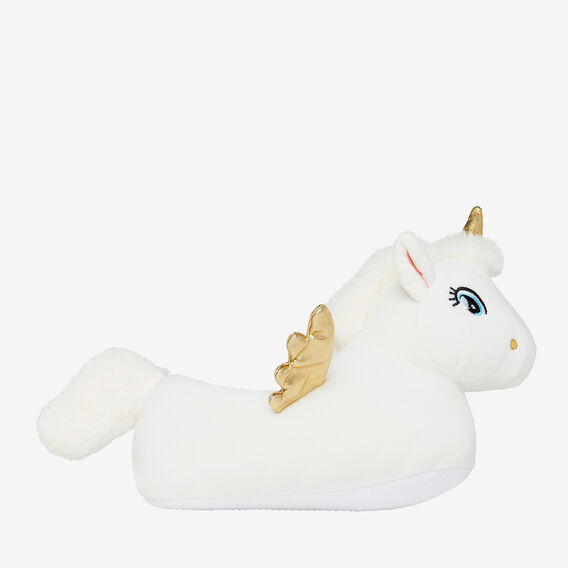 Unicorn Slippers  WHITE  hi-res