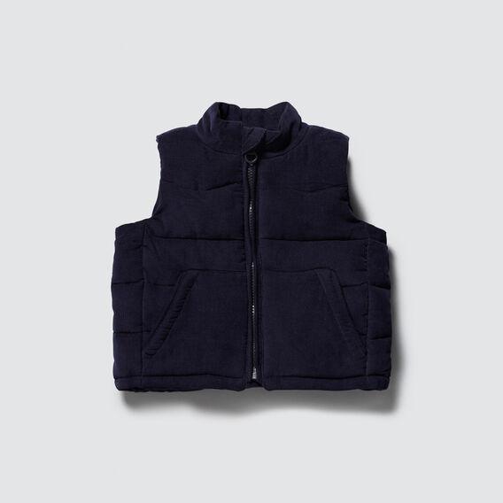 Cord Puffa Vest  MIDNIGHT BLUE  hi-res