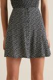 Floral Swing Skirt  BLACK  hi-res