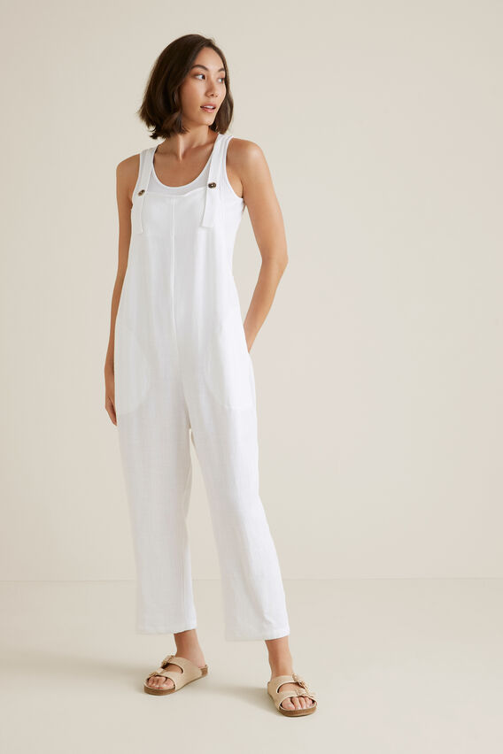 Cross Back Overalls  WHISPER WHITE  hi-res