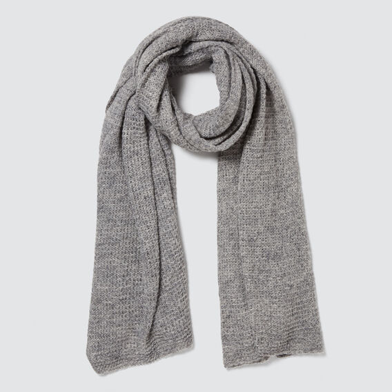 Wrap Knit Scarf  GREY  hi-res