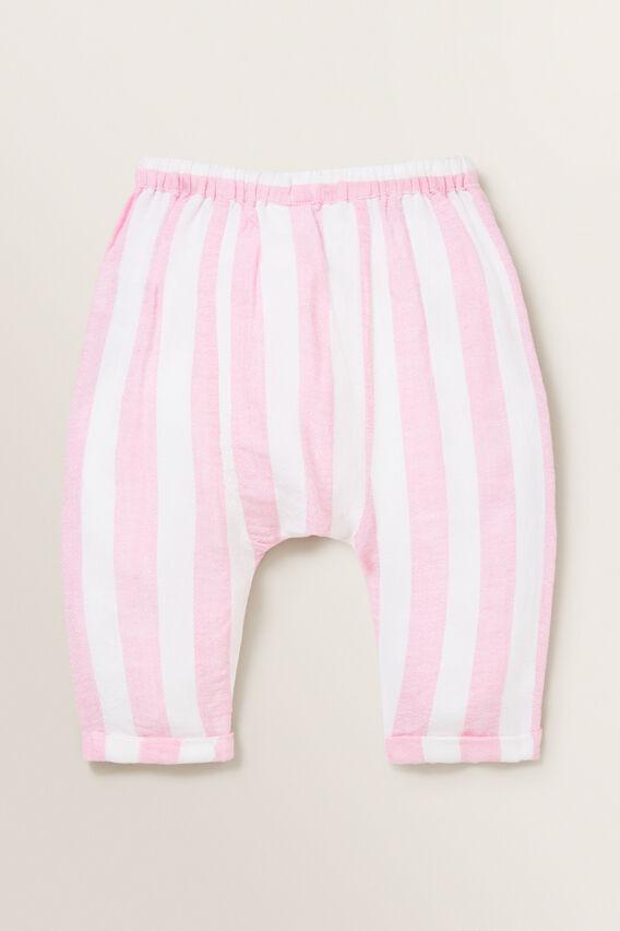 Stripe Linen Pants  PINK BLUSH/WHITE  hi-res