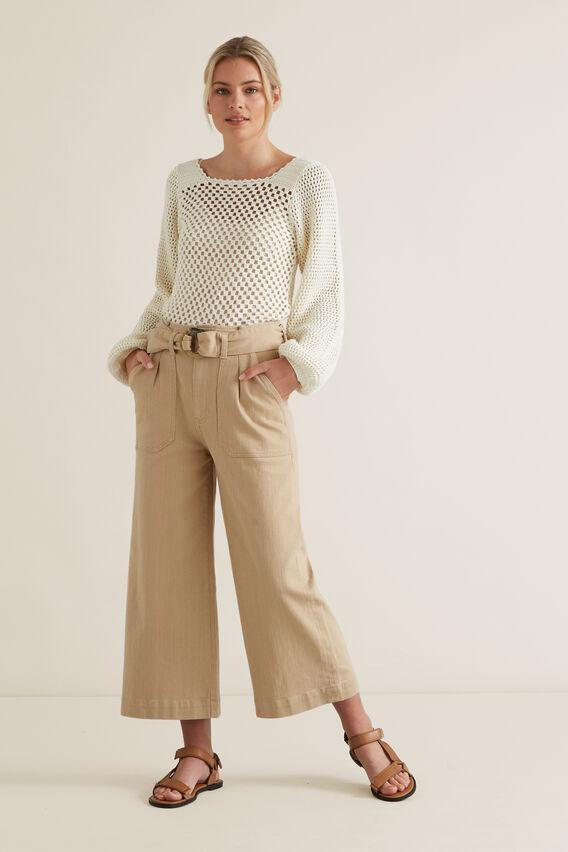 Crotchet Sweater  CLOUD CREAM  hi-res