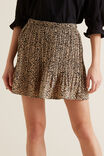 Mini Pleated Skirt, OCELOT, hi-res