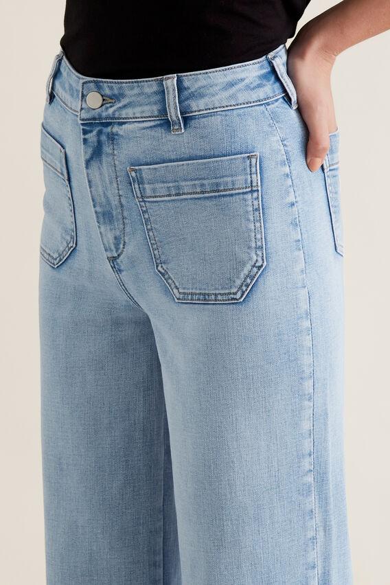 Mini Pocket Denim Pant  LIGHT WASH DENIM  hi-res