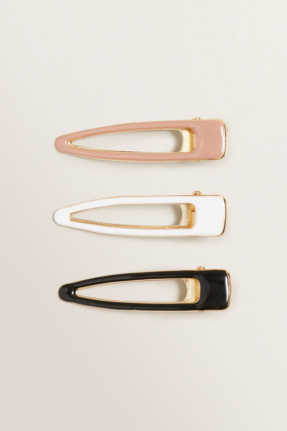 Enamel Hair Clips  MULTI  hi-res