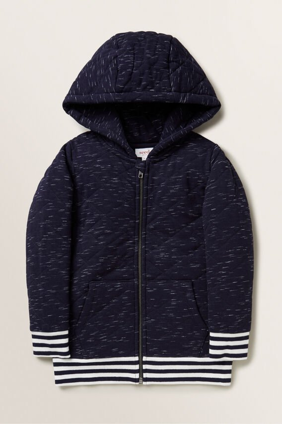 Quilted Hoodie  MIDNIGHT SPACE DYE  hi-res
