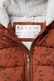 Novelty Puffa Vest  BRICK BROWN  hi-res
