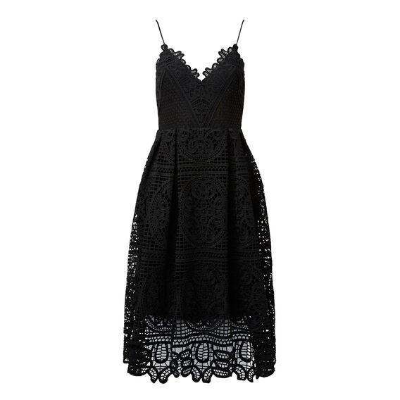 Sweet Broderie Dress  BLACK  hi-res