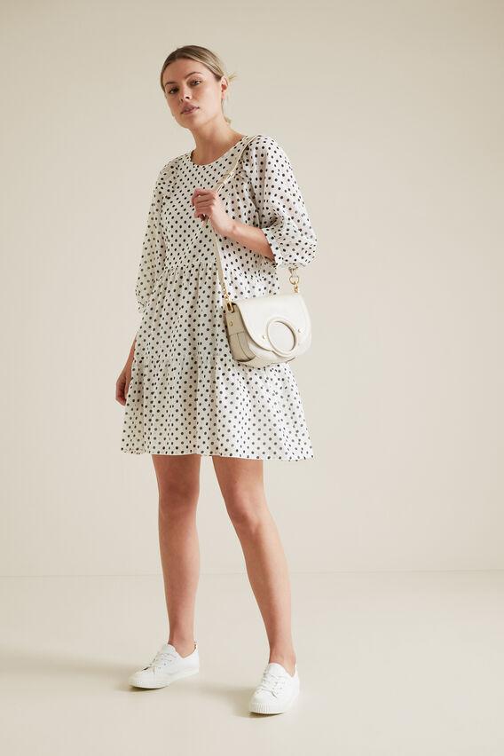 Tiered Spot Dress SPOT hi-res