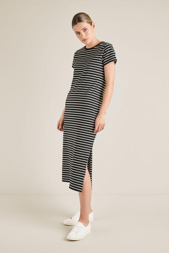 Jersey Maxi Dress STRIPE hi-res