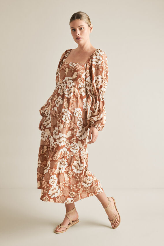 Blouson Midi Dress VINTAGE FLORAL hi-res