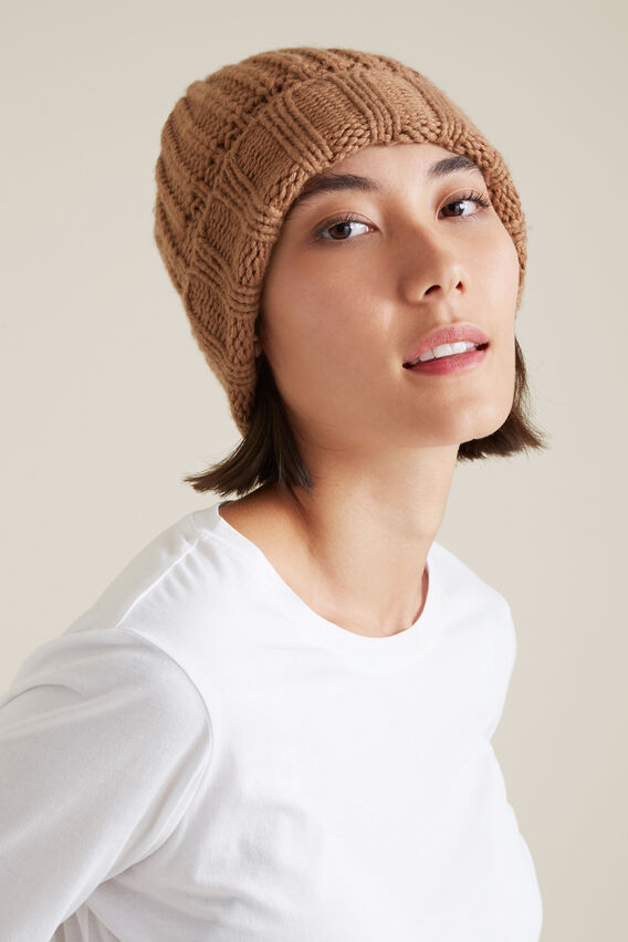 Rib Knit Beanie  WARM CLAY  hi-res