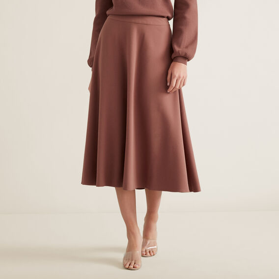 Crepe Woven Skirt  WASHED ROSE  hi-res