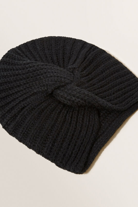 Turban Beanie  BLACK  hi-res