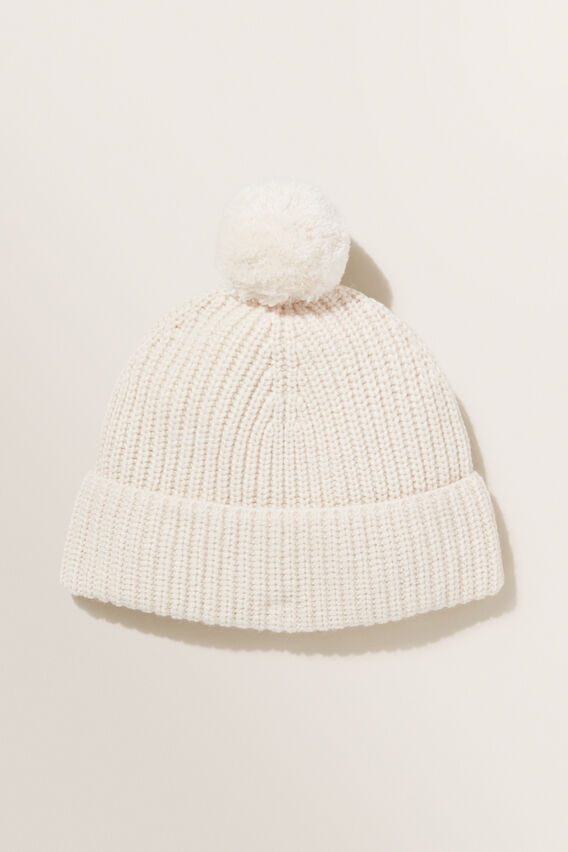 Winter Knit Beanie  VANILLA  hi-res