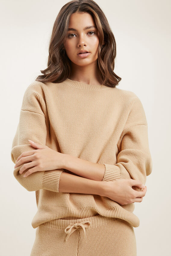 Slouchy Knit  CAPPUCCINO  hi-res
