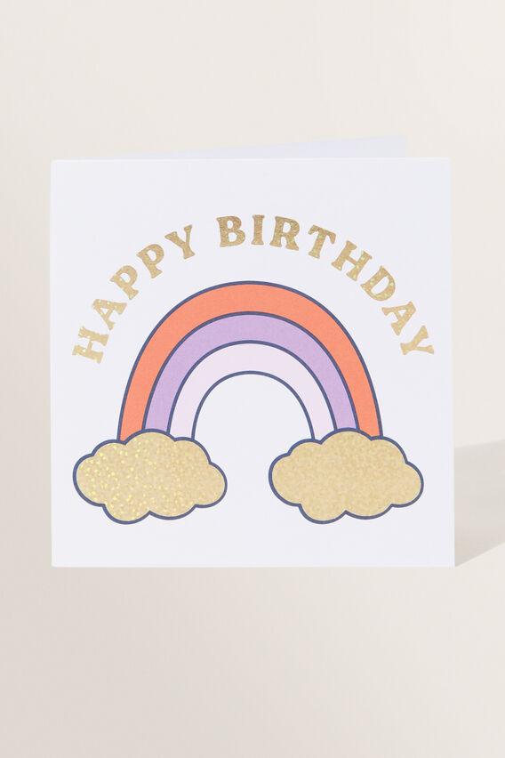 Large Rainbow Birthday Card  MULTI  hi-res