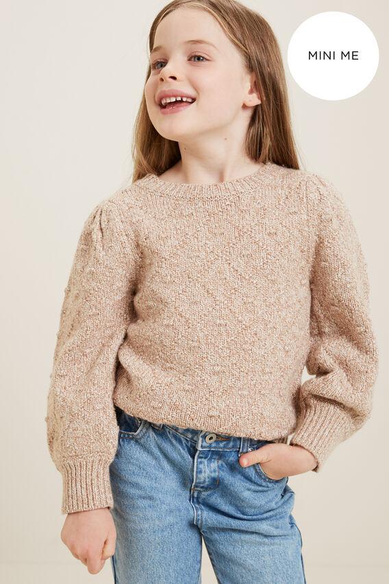 Mini Me Pom Pom Twist Sweater  HONEY VANILLA TWIST  hi-res