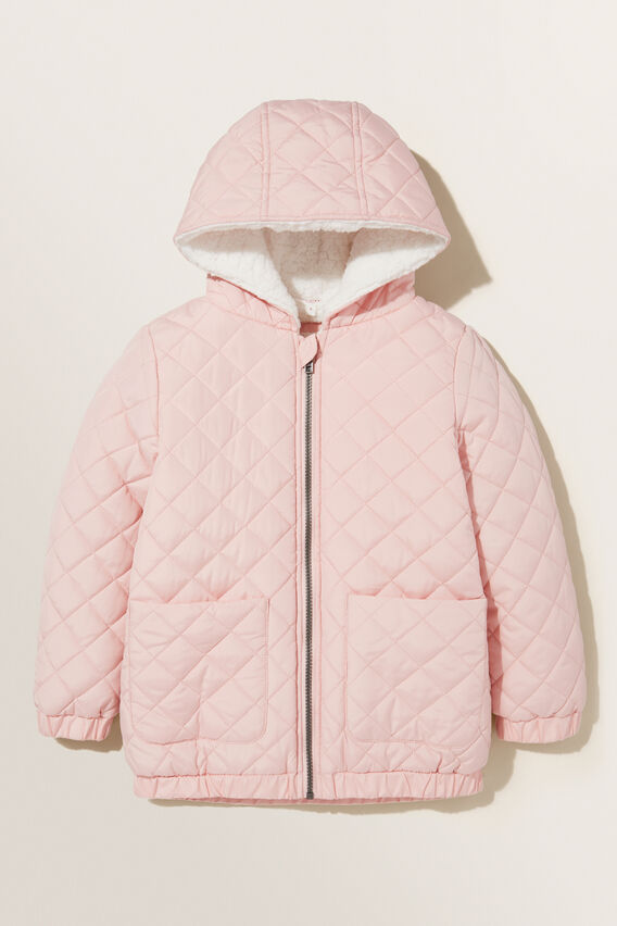 Quilted Anorak  DUSTY ROSE  hi-res