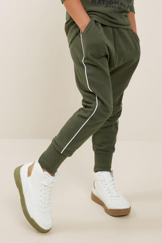 Piping Detail Trackpant  FOREST  hi-res