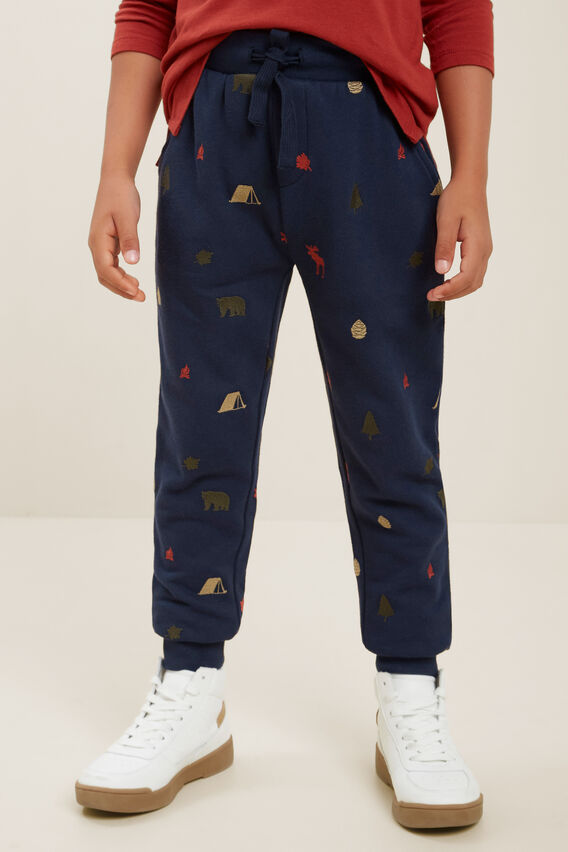 Embroidered Trackpant  MIDNIGHT BLUE  hi-res