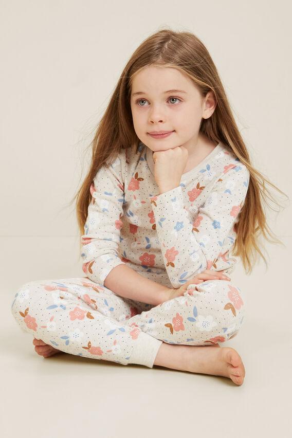 Floral Spot Pyjamas  OAT MARLE  hi-res