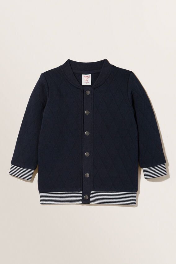 Quilted Snap Windcheater  MIDNIGHT BLUE  hi-res
