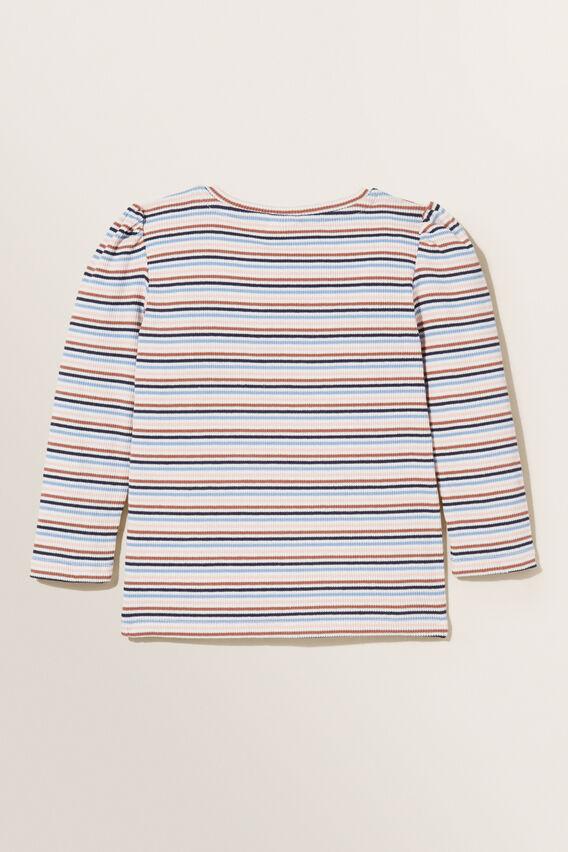 Stripe Long Sleeve Tee  MULTI  hi-res