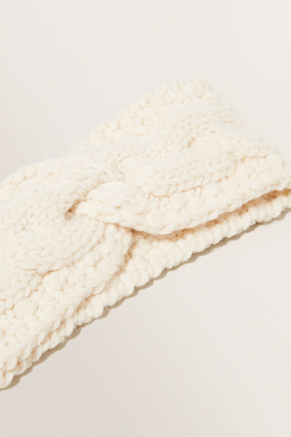 Knitted Headband  CREME  hi-res