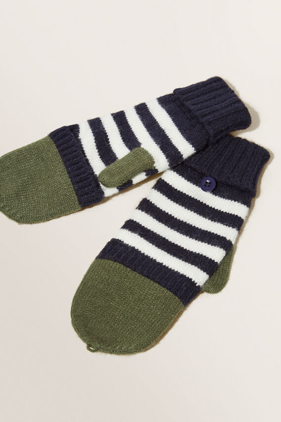 Stripe Mittens  MULTI  hi-res