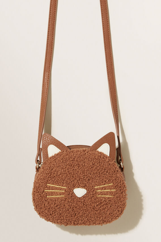 Teddy Fur Cat Bag  DARK BROWN  hi-res