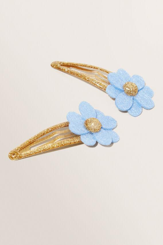 Felt Flower Clips  BLUEBELL  hi-res