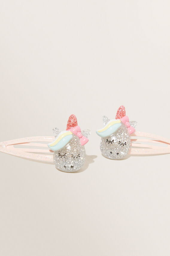 Glitter Unicorn Clips  MULTI  hi-res
