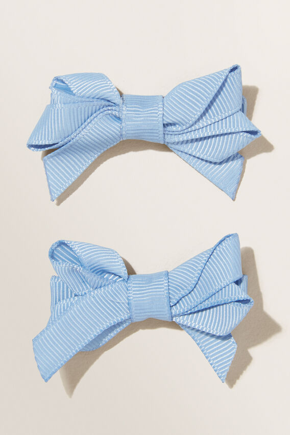 Double Bow Clips  BLUEBELL  hi-res